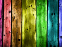 Colored wooden planks Stock Photography