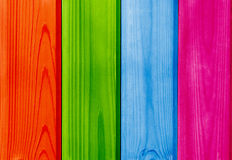 Colored wooden planks backdrop Royalty Free Stock Photography