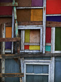 Colored wooden squares. Shot in Russia Kostroma fall and summer 2015 royalty free stock photos