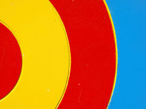 Colored wooden target Stock Image