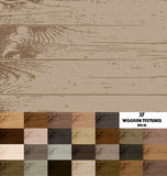 27 colored wooden textures. 27 colored vector wooden textures, rustic wood Royalty Free Stock Image