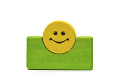 Colored wooden toys Royalty Free Stock Photo