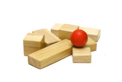 Colored wooden toys Royalty Free Stock Photography