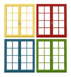 Colored wooden window Stock Photography