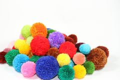 Pompons royalty free stock photos