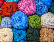Colored woolen thread Royalty Free Stock Images