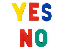 Free Colored Words YES And NO Stock Photo - 17529040