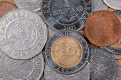Colored world coins Royalty Free Stock Photos