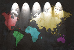 Colored world map Stock Images
