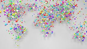 Colored World Map royalty free illustration