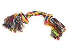 Colored  woven dog rope toy Royalty Free Stock Image