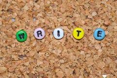 Colored write Stock Photos