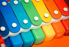 Colored xylophone Stock Image