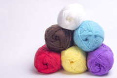 Colored yarn for knitting Stock Photo