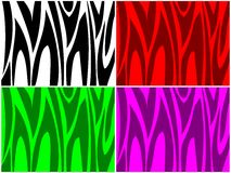 Colored Zebra Stripes Stock Photo