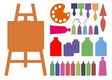 Coloree el arte abstracto del vector de la brocha Fotografía de archivo libre de regalías