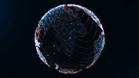 Coloree el concepto loopable del globo del mundo de los apps almacen de metraje de vídeo