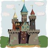 Coloree el cuento de hadas del palacio del libro Fotografía de archivo