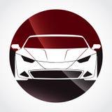 Coloree el diseño brillante del logotipo del círculo del coche deportivo Fotografía de archivo