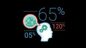 Coloree el elemento corporativo plano de Infographic con Alpha Channel ilustración del vector
