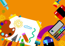 Coloree el extracto del vector de la brocha colorido Imágenes de archivo libres de regalías