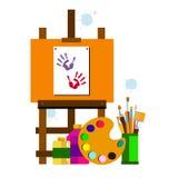 Coloree el extracto del vector de la brocha colorido Imagenes de archivo