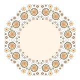 Coloree el fondo decorativo de la flor con el lugar para el texto Imagen de archivo libre de regalías
