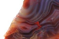 Coloree el fondo del mineral de la ágata Imagenes de archivo
