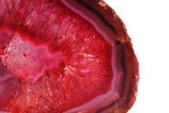 Coloree el fondo del mineral de la ágata Foto de archivo