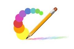 Coloree el lápiz Imagenes de archivo