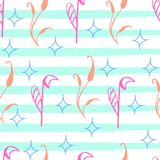 Coloree el modelo de flores rosadas en un fondo azul, ejemplo del vector libre illustration