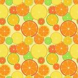 Coloree el modelo inconsútil de la fruta cítrica Stock de ilustración