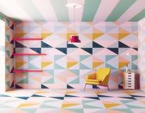 Coloree el modelo interior Foto de archivo libre de regalías