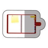 coloree el orden del día con las etiquetas y el icono de papel de la nota Imágenes de archivo libres de regalías
