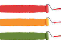 Coloree el rodillo de pintura Fotos de archivo