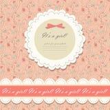 Coloree el vector floral rosado del fondo Foto de archivo
