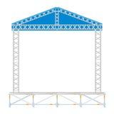Coloree la etapa seccional del metal del concierto del diseño plano con el tejado Fotografía de archivo