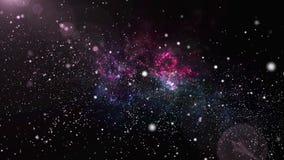 Coloree la galaxia y la nebulosa cambiantes con el stardust brillante de la luz de la estrella en universo del espacio