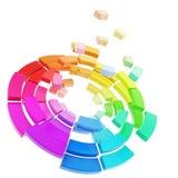 Coloree la gama de colores del espectro del rango Fotos de archivo libres de regalías