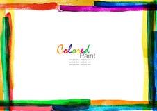 Coloree la lona del marco Imagen de archivo