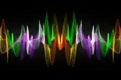 Coloree la onda acústica abstracta Fotos de archivo libres de regalías