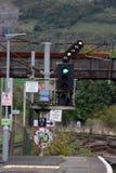 Coloree la señal ferroviaria, muestras, pluma para el empalme Imagen de archivo