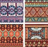 Coloree la textura tribal inconsútil Imagen de archivo