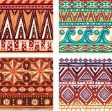 Coloree la textura tribal inconsútil Fotografía de archivo