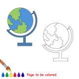 Coloree la TIERRA por la muestra Foto de archivo libre de regalías
