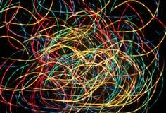 Coloree las cintas festivas que brillan intensamente Fotos de archivo libres de regalías