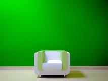 Coloree las cortinas blancas y verdes Fotos de archivo