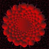 Coloree las esferas con gradiente rojo en un fondo negro Imágenes de archivo libres de regalías