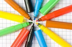 Coloree las etiquetas de plástico Fotos de archivo libres de regalías