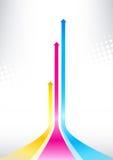 Coloree las flechas ilustración del vector